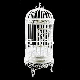 White Wire Birdcage Jewelry Display Dollhouse Furniture