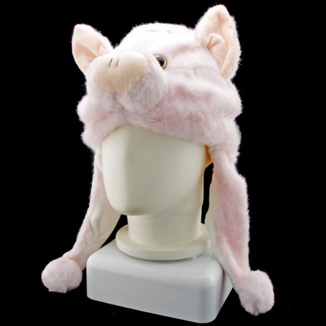 Pink Pig Piggy Animal Funny Mascot Costume Mask Hat Cap