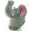 Elephant Plush Mascot Fancy Dress Costume Mask Fur Hat Cap