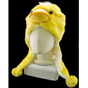 Chick Chicken Mascot Fancy Dress Costume Mask Fur Hat Cap