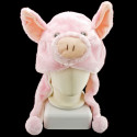 Pink Pig Mascot Plush Fancy Dress Costume Fur Hat Cap