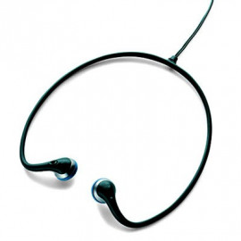 Black 3.5mm Earbuds Sports Behind The Neck Headphones