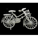 White Wire Mini Bicycle Bike Rare Dollhouse Miniature