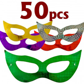 Lot 50 Shiny Bat Mardi Gras Masquerade Ball Party Mask