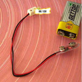 Receptacle Power Supply Plug 9V 12V Dollhouse Miniature