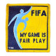 FIFA Football / Soccer My Game Is Fair Play Logo Patch / Bordado (YELLOW)