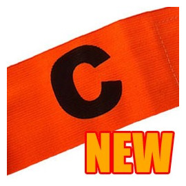 Football Games Gear Adjustable Captain Armband (ORANGE) Round C