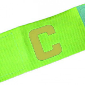 Football Games Gear Adjustable Captain Armband (YELLOW) Golden C