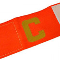 Football Games Gear Adjustable Captain Armband (ORANGE) Golden C