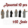 LotSet 10 Mixed Middle East Arab People Figure Painted Train Model 1:50 O Scale