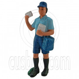 Post Office Postman Mailman Carrier Figure Painted War Train Model 1:30 G Scale