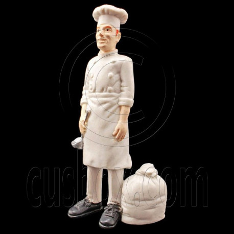 Restaurant Cooking Chef People Figure Painted War RR Train Model 1:30 G Scale
