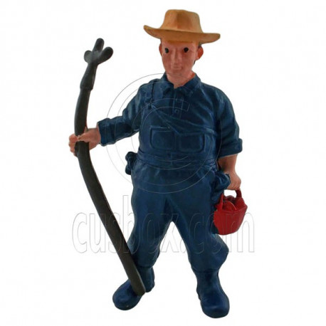 Farmer Agriculturer Crops Gardening Figure Painted War Train Model 1:30 G Scale