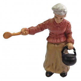 Kitchen Cooking Old Women People Figure Painted War RR Train Model 1:30 G Scale