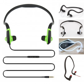 3.5mm In-Ear Earbuds Sports Behind The Neck Jogging Headphones Earphones Headset