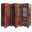 Rosewood Wood Chinese Style Folding Screen Divider 1:6 Scale Dollhouse Furniture