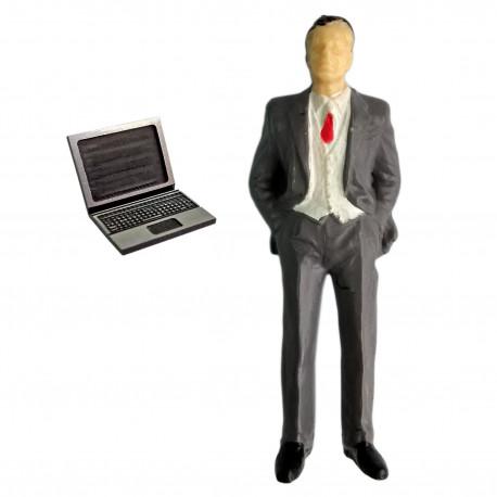 Computer Laptop for Train Model G Scale 1:24 1:25 Scale Miniature Diorama