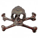 Stainless Steel Skull Pirate Lapel Crossbone Pin Badge Halloween Costume Brooch
