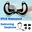IPX-8 Waterproof 3.5mm Hook Swimming Headphones Earphones Earbuds MP3 for iPod