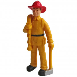 Firefighter Fireman Fire Rescue Man 1:30 Scale Toy Train Model Figure Figurine