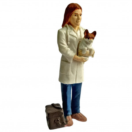Veterinarian Pets Doctor Educational Toy 1:30 Scale Train Model Figure Figurine