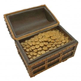 Treasure Chest Trinket Box with Coins 1:25 Scale Doll's House Dollhouse Miniature