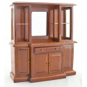 Chinese Vintage Walnut Wood Cabinet Dollhouse Furniture
