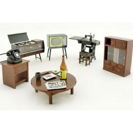 Vintage Japanese Japan w Magnet 1:25 Dollhouse Furniture Set